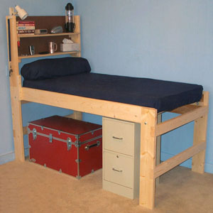 Solid Wood All Sizes High Riser Bed 1000 Lbs Wt. Capacity