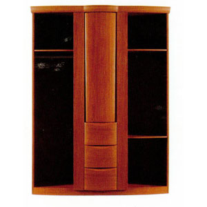 Wardrobe with Bar and Mirror  P176W (PK)