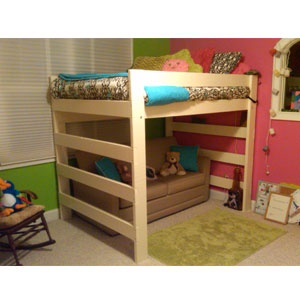 The Premier Solid Wood Loft Bed 1000 Lbs Wt. Capacity