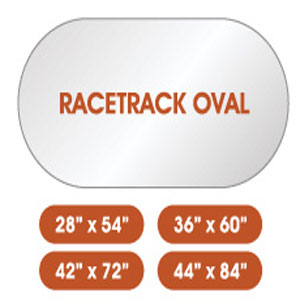 Racetrack Oval Glass Top (SC)