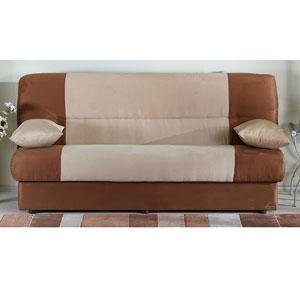 Regata Convertible Sofa Sleeper - Rainbow Beige Brown (SU)