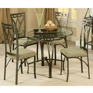5 Pcs. Glass Dinette Set Sophia(P)