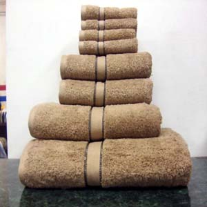 8PC. Set Tan-Beige Egyptian Cotton Towels ed8pc (RPT)