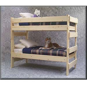 The Premier Solid Wood Bunk Bed 1000 Lbs Wt. Capacity