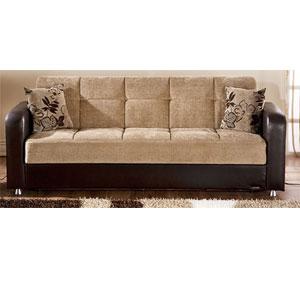 Vision Convertible Sofa Sleeper - Benja Light Brown (SU)