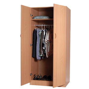 Two Door Wardrobe W104_(WP)