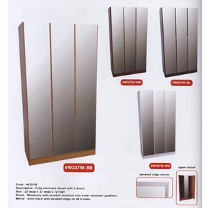 Wardrobe With 3 Fully Mirrored Doors W337M(WPFS150)