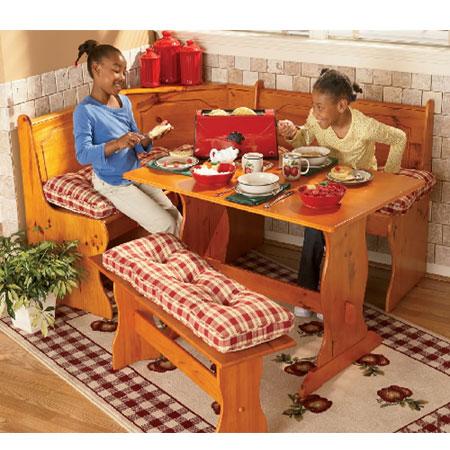 Kitchen Corner Nook Cushions 4 Pc Plaid Cushion Set 4314 Ghffs Nationalfurnishing
