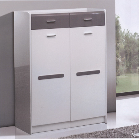Shoe Storage: White And Grey Shoe Cabinet D 23 ARHFS @  NationalFurnishing.com