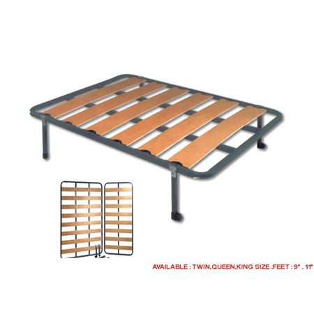 Bed Frames/Rails: Wooden Slat Bed Frame KYRBE EF ...